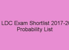 PSC LDC Short list / LD CLerk Rank list
