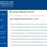 MG University CBCSS BA/BCom/BSc Exam Result 2019 | MG