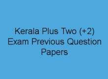HSE +2 Model Question Papers download