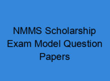 Nmms Scholarship Exam Model Question Papers Sat Mat