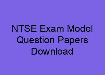 Ntse Exam Model Question Papers Download Sat Mat Ntse